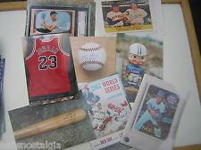 (88) different 4x6 kodak color photos of vintage baseball cards and memorabilia
