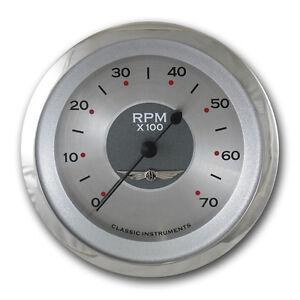 "classic instruments all american series Tach gauge 3 3/8"" hot rod street"