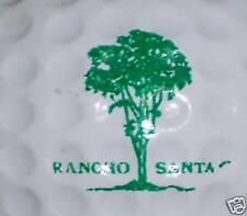 (1)Vintage Rancho Santa Course Logo Golf Ball Balls