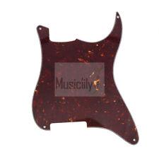 Tortoise Shell 4Ply PVC Blank Outline Pickguard Plate For Fender Strat ST Guitar