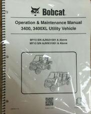 Bobcat 3400/XL Utility Vehicles Operation & Maintenance Manual Owners 1 #6989601