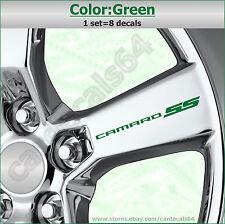 8 X Camaro SS Wheel Decal Sticker Door Handle Chevrolet Emblem Logo Design #1 A
