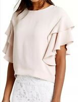 EX MARKS AND SPENCER PINK FLAMENCO SLEEVE SHELL TOP SIZE 8-18 AVAILABLE