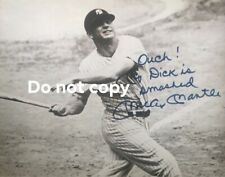 Mickey Mantle REPRINT Signed 8x10 Photograph With Awesome Inscription