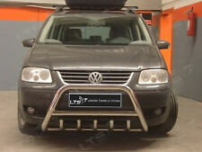 VW TOURAN CHROME AXLE NUDGE A-BAR, STAINLESS STEEL BULL BAR 2003 ONWARDS