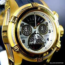 Invicta Reserve Bolt Zeus Twisted Metal Gold Plated Swiss Made 52mm Watch New