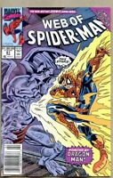 Web Of Spider-Man #61-1990 fn+ 6.5 Marvel Newsstand Variant Acts of Vengeance