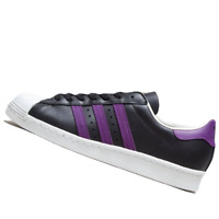 ADIDAS MENS Shoes Superstar 80S - Black, Purple & White - BB3718