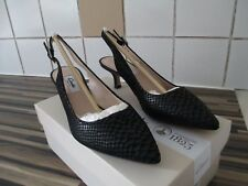 Ladies Clarks Aquifer Belle Snake Effect Slingback Court Shoes - Size 5D