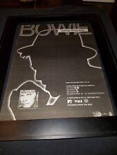 David Bowie Jump They Say Rare Original Radio Promo Poster Ad Framed! #2