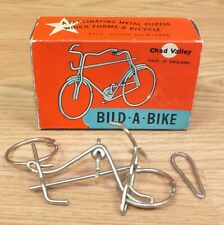 Vintage Chad Valley Bild - A - Bike - Metal Bicycle Puzzle in Original Box *READ