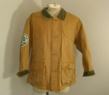 Vintage CABELA'S Brown Duck Canvas Shooting Hunting GAME BAG Jacket Mens Large
