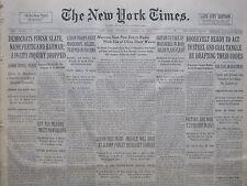 MARCONI SHORT WAVE RADIO 8-1933 August 17 CUBA MACHADO - IRAQ MASSACRES FDR