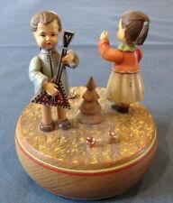 Handcrafted Folk Art Anri Music Box Lara'S Theme Thorens Movement Switzerland