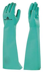 Delta Plus Nitrex Long Sleeve Gauntlet Nitrile Chemical Waterproof Gloves(VE846)
