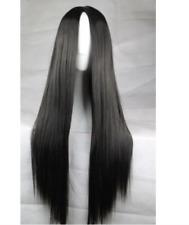 Women's Long Straight Hair Full Wig Heat Resistant Cosplay Wig No bangs+Wig Cap