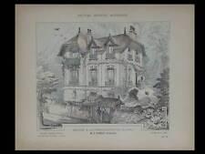 AUVERS SUR OISE CHAPONVAL, MAISON - 1906 - PLANCHES ARCHITECTURE - TUBEUF, CERGY