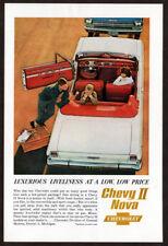 1962 CHEVROLET Chevy II Nova Vintage Original Print AD White convertible photo