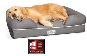 "New, PetFusion Ultimate Dog Bed, Orthopedic Memory Foam, Large (36x28"") Grey"