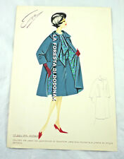 VINTAGE FASHION SKETCH PLATE DRAWING ITALY ITALIAN SIXTY FIFTY '50 '60 1950 1960