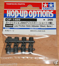 Tamiya 54489 Low Friction 5mm Adjuster (Short, 8 Pcs.) (M03R/M05/M06), NIP