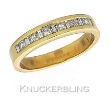 Genuine Diamond Wedding Ring 0.50ct F VS Princess & Baguette Cut in 18ct Gold
