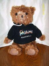 "Miami Marlins Baseball Bear Plush 14"""