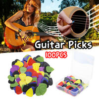 100Pcs Anti-slip Electric Guitar Pick Acoustic Music Picks Plectrum Guitar Kit