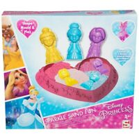 Official Disney Princess Sparkle Play Sand Fun Set Shape Mould & Play New 3+