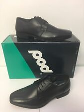 Pod Thomas Boys Youth Leather School Shoe In Black