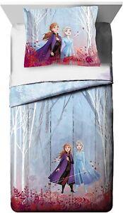 Disney Frozen 2 Kids Twin/Full Reversible Comforter and Sham Set, Brand New