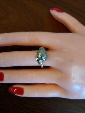 10k Yellow Gold Snake Ring w Gypsy Set diamonds.