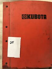 Kubota Parts Book With Serveral Different Manuals