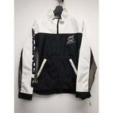 SledNecks Snow Skiing Snowmobile Jacket Black White Grey Adult Size Medium M