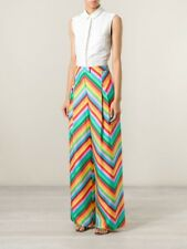 NWT Valentino 1973 Resort Multicolored Rainbow Chevron Pants Size 4 $2490.00