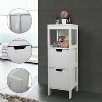 Bathroom Floor Cabinet Storage Organizer with 2 Drawers Free Standing Cabinet