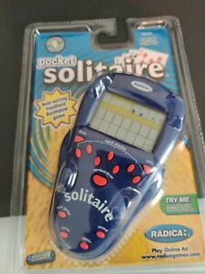 Vintage RADICA 2001 Pocket Solitaire Electronic Game 72009 NEW Collectible