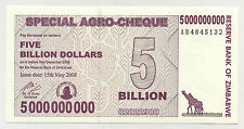Zimbabwe 5000000000 Dollars 15-5-2008 Pick 61 UNC Uncirculated Banknote
