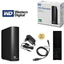 """Western Digital Elements 3,5"""" 3TB Hard Disk Esterno - Nero (WDBWLG0030HBK-EESN)"""
