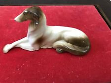 Porcelain Vintage Borzoi Russian Wolfhound Made In Germany 14027 Elegant
