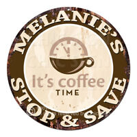 CWSS-0188 MELANIE'S STOP&SAVE Coffee Sign Birthday Mother's Day Gift Ideas