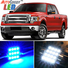 11 x Premium Blue LED Lights Interior Package for 1997-2014 Ford F150 F250 +Tool