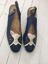 Amazing Vintage 70s Leather Heels Size 9