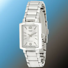 Casio MTP-1233D-7A Mens Faceted Square Dial Watch Stainless Steel Band New