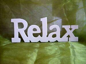 Schriftzug Relax Sperrholz Basteln  Holz relaxen Deko