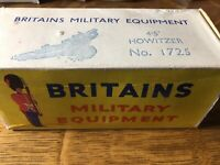 Britains Military Equipment 45 Howitzer No. 1725 New In Box Vintage Rare