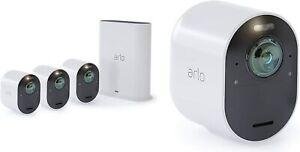 ARLO VMS5440-100EUS - Ultra Überwachungskamera, 4er Set 4K Kameras, Weiß