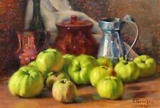 François FORICHON, pommes, nature morte, tableau, fruits, impressionnisme