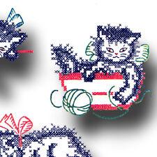 Vintage Cross Stitch Kittens Pattern