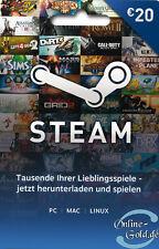 20 EUR Steam Guthabencode €20 Euro Gutschein Steam Prepaid Key Schnell Versand